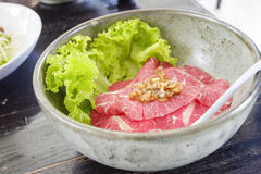 Thai style beef noodle food. Royalty Free Stock Photo