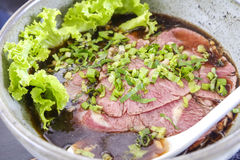 Thai style beef noodle food. Royalty Free Stock Photos