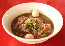 Thai style beef noodle soup Royalty Free Stock Photos