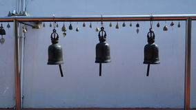 Thai Style Bells In Temple stock video footage