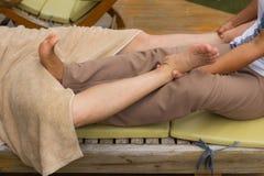 Thai style body massage Royalty Free Stock Photo