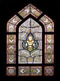 Thai style buddhism temple window Stock Photo
