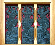 Thai style buddhism temple window Stock Image