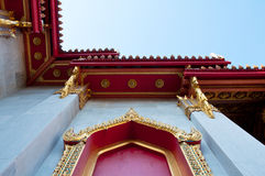 Thai style buddhism temple window. Wat Benchamabophit is a temple compound of profound beauty and religious importance.Wat Benchamabophit is a royal monastery Royalty Free Stock Photos