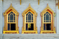 Thai style buddhism temple window Royalty Free Stock Image