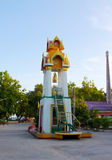 Thai style Buddhist temple, belfry. Gable garden, green, historical, home, house, landscape life, ancient Royalty Free Stock Photo