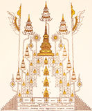 Thai style cabalistic writing royalty free stock photography