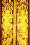 Thai style carved door Stock Photography