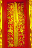 Thai style carving door Royalty Free Stock Photography