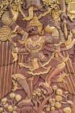 Thai style carving a garuda Royalty Free Stock Photo