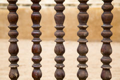 Thai style Carving Wooden Fence. Stock Image