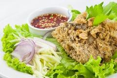 Thai style Catfish Salad Royalty Free Stock Photos