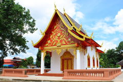 Thai style church Royalty Free Stock Image