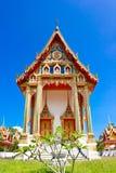 Thai style church. Beautiful Thai style church, Thai temple, Wat Bang Riang, Phangnga, Thailand Royalty Free Stock Images