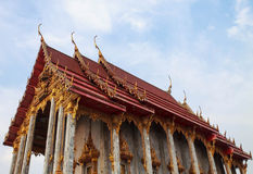 Thai Style Church. In wat Siwareenoy Thailand Royalty Free Stock Photography