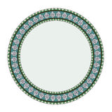 Thai style  circle frame Royalty Free Stock Photos
