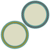 Thai style  circle frame Royalty Free Stock Images