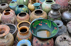 Thai style clay pot Stock Photography