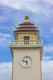 Thai style clock tower Stock Photos