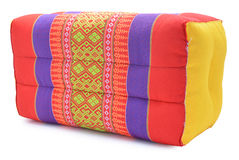 Thai style colorful cotton pillow isolated on white background Stock Images