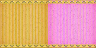 Thai style complex orange and pink card board texture Stock Photos