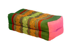 Thai style cotton pillow isolated Royalty Free Stock Photography