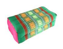 Thai style cotton pillow on white Stock Photo
