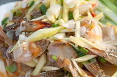 Thai style crab salad Royalty Free Stock Photo