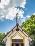 Thai style crematory  site. For burn dead people Stock Photos