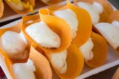Thai Style Crisp Tart Stock Images