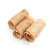 Thai style of crispy rolled crepes dessert Kanom Toky. The native Thai style of crispy rolled crepes dessert Kanom Tokyo Stock Photo