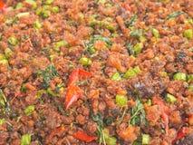 Thai style crunchy pound fish with seasoning Royalty Free Stock Photos