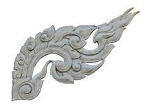 Thai style decorative pattern molding isolated on white Royalty Free Stock Photo