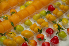 Thai  style dessert colorful Stock Photos