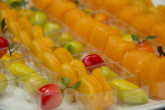 Thai  style dessert colorful Royalty Free Stock Photography
