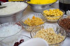Thai style dessert ingredient. Royalty Free Stock Photos