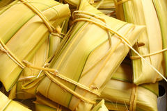 Thai style dessert, made from banana and rice Royalty Free Stock Images