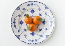 Thai style dessert, orange shape in vintage plate Stock Images