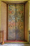 Thai Style Door, Wat Pho temple Royalty Free Stock Image