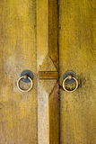 Thai style door Royalty Free Stock Images