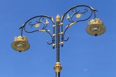 Thai style electric light pillar Royalty Free Stock Photos