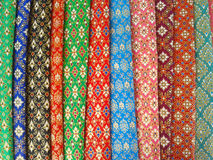 Thai style fabric Royalty Free Stock Photography
