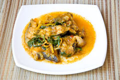 Thai style fish curry Stock Photo