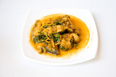 Thai style fish curry Royalty Free Stock Photos