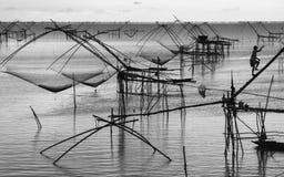 Thai style fishing trap Stock Photos