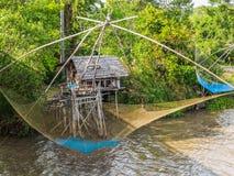Thai style fishing trap Royalty Free Stock Photos