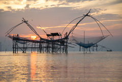 Thai style fishing trap Stock Photography