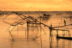 Thai style fishing trap Stock Images
