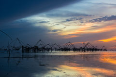 Thai style fishing trap Stock Photo