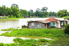 Thai Style Floating House Stock Photography
